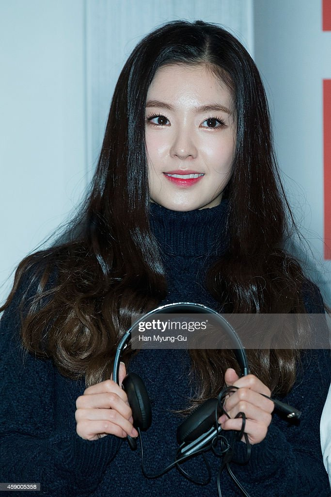 Irene of girl group Red Velvet poses for photographs at the launch event for new products of 'SHURE' on November 14, 2014 in Seoul, South Korea.