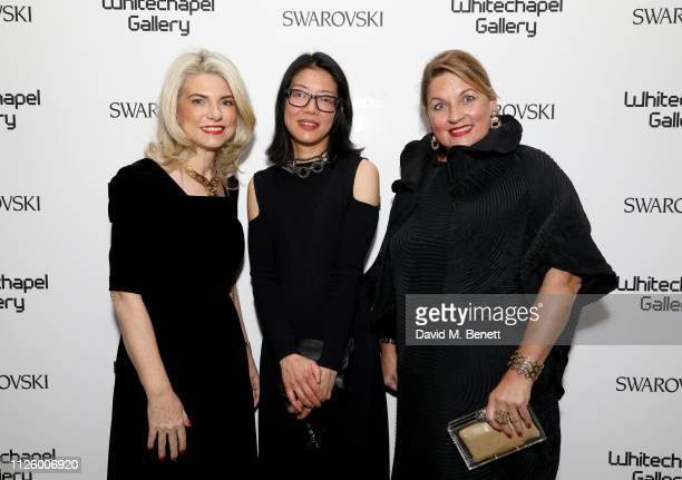 Irene Panagopoulos Lydia Yee and Catherine Petitgas attend a glamorous gala dinner at Whitechapel Gallery as Rachel Whiteread is celebrated as the...