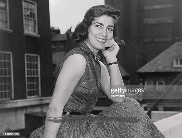 Irene Papas 24 year old Greek beauty established Italian movie star in London