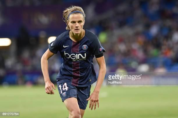 Irene Paredes of Paris SaintGermain during the UEFA Women's Champions League Final between Lyon Women and Paris Saint Germain Women at the Cardiff...