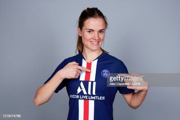 Irene Paredes of PSG poses during the UEFA Women's Champions League Portrait Shoot on February 24, 2020 in Paris, France.