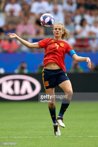 Irene Paredes of Spain during the 2019 FIFA Women's World Cup France Round Of 16 match between Spain and USA at Stade Auguste Delaune on June 24,...