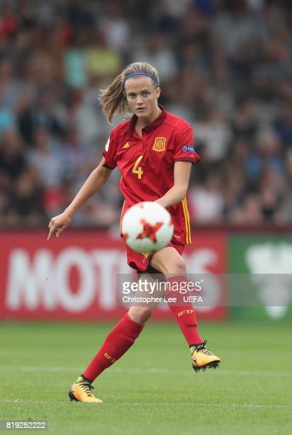 Irene Paredes of Spain in action during the UEFA Women's Euro 2017 Group D match between Spain and Portugal at Stadion De Vijverberg on July 19, 2017...