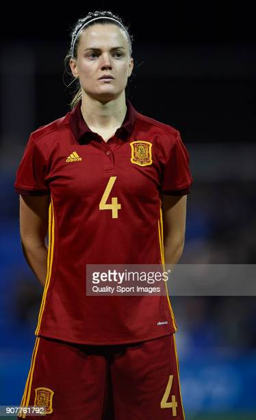 Irene Paredes of Spain looks on prior to the international friendly match between Spain Women and Netherlands Women at Pinatar Arena on January 20...