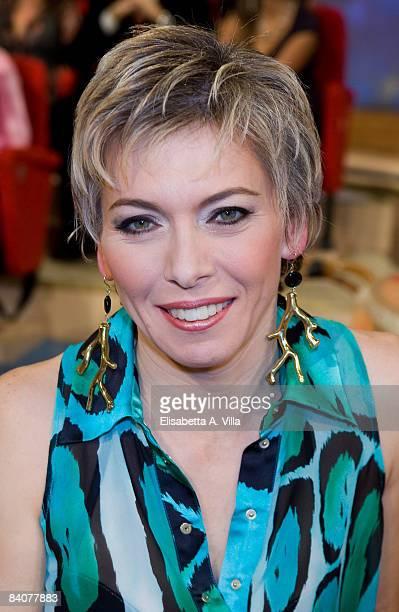 Irene Pivetti attends the Italian TV program 2009 Horoscope by Paolo Fox on December 17 2008 in Rome Italy