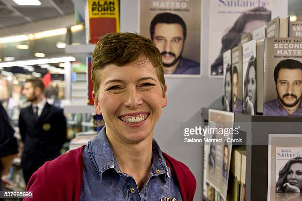 Irene Pivetti candidate to the City of Rome during the presentation the book 'I am a woman are Holy' the autobiography of Daniela Santanche and the...