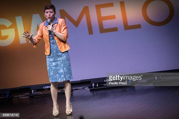 Irene Pivetti during the election campaign of Giorgia Meloni in Rome The president of the Italian Brothers and mayoral candidate Giorgia Meloni will...