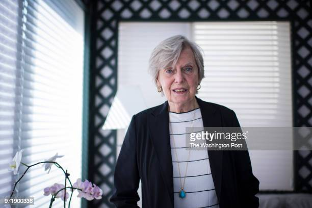 Irene Pollin widow of former Caps and Wizards owner Abe Pollin sits for a portrait at her home in Bethesda MD on Wednesday June 22 2016 Irene has...