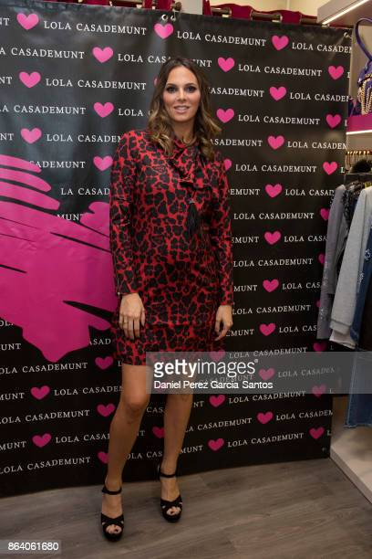 Irene Rosales attends the Lola Casademunt boutique opening on October 20 2017 in Malaga Spain