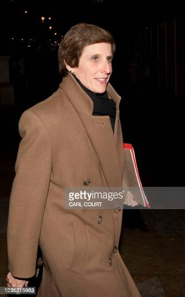 Irene Rosenfeld, Chief Executive Officer of US group Kraft Foods, arrives in Whitehall, London, for a meeting with British Business Secretary Peter...