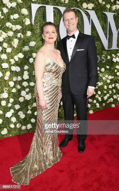 Irene Sakoff and David Hein attend the 2017 Tony Awards at Radio City Music Hall on June 11 2017 in New York City