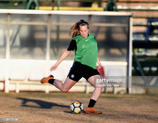 Irene Santi of FC Internazionale Women in action during a training session at Suning Youth Development Centre in memory of Giacinto Facchetti on...