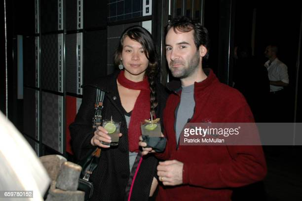 Irene Stevens and Laurent Hildretch attend PRATT INSTITUTE Design Students OPENING EXHIBIT ANIMAL ABSTRACTIONS hosted by MATTHIAS HOLLWICH at...