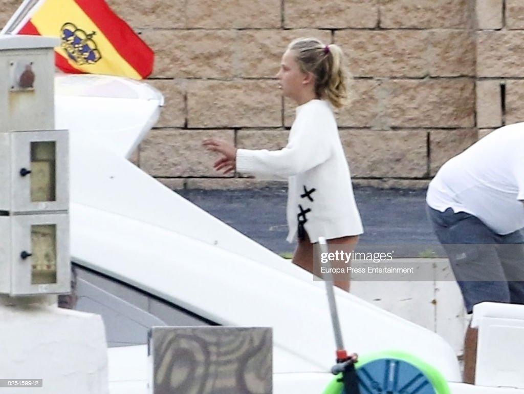 Irene Urdangarin sailing on August 1, 2017 in Palma de Mallorca, Spain.