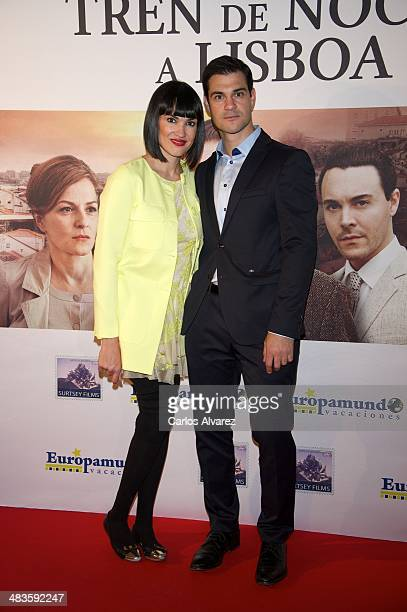 Irene Villa and husband Juan Pablo Lauro attend the Night Train to Lisbon premiere at the Palafox cinema on April 9 2014 in Madrid Spain