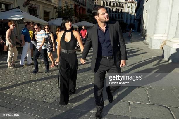 Irene Villa and Juan Pablo Lauro attend the Zucchero concert at the Royal Teather on July 25 2017 in Madrid Spain