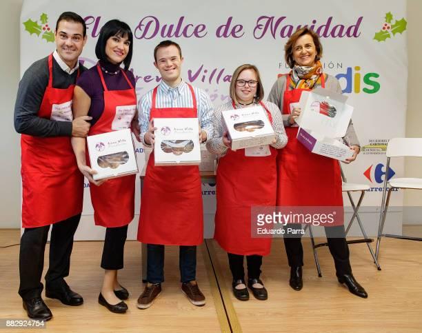 Irene Villa and Juan Pablo Lauro present the 'Flor dulce de Navidad' campaign at Prodis Foundation on November 30 2017 in Madrid Spain