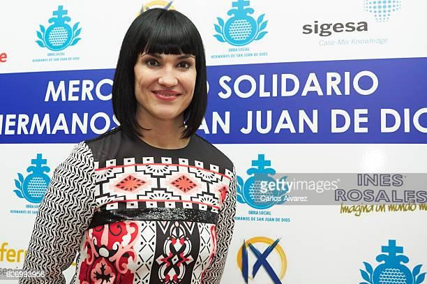 Irene Villa attends 'Obra Social Hermanos San Juan De Dios' charity market on December 1 2016 in Madrid Spain
