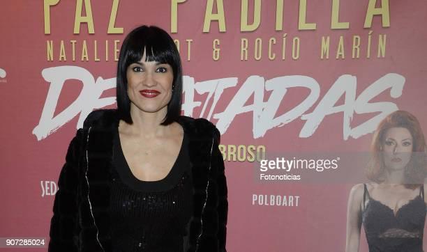 Irene Villa attends the premiere of 'Desatadas' at the Capitol theatre on January 19 2018 in Madrid