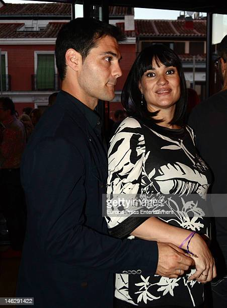 Irene Villa, eight months pregnant, and her husband Juan Pablo Lauro attend 'Meson 5 Jotas' restaurant anniversay on June 12, 2012 in Madrid, Spain....