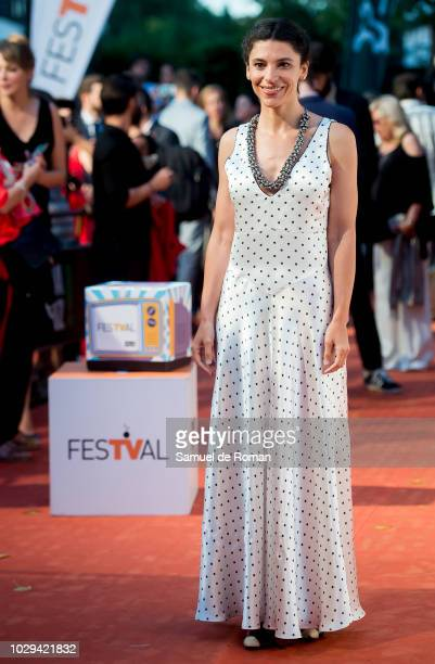 Irene Visedo attends the red carpet closing of FesTVal 2018 on September 8 2018 in VitoriaGasteiz Spain