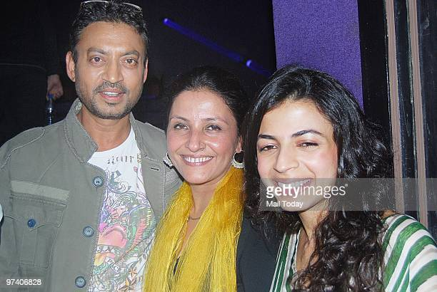 Irfan Khan Leena Yadav and Ambika Hinduja at the special screening of Teen Patti in Mumbai on February 25 2010