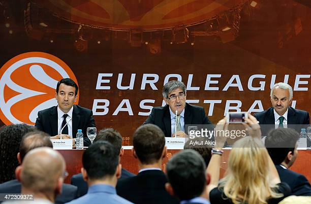 Irfan Onal Director General Of Promotion Ministry of Culture and Tourism of the Republic of Turkey Jordi Bertomeu Euroleague Basketball President CEO...