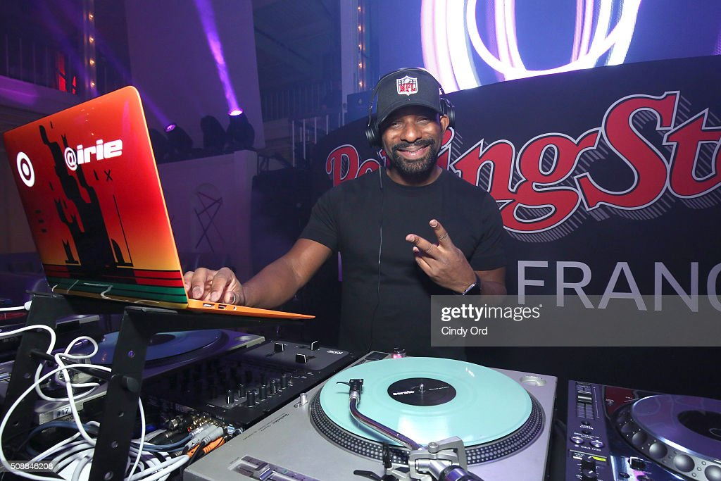 DJ Irie spins at Rolling Stone Live SF with Talent Resources on February 6, 2016 in San Francisco, California.