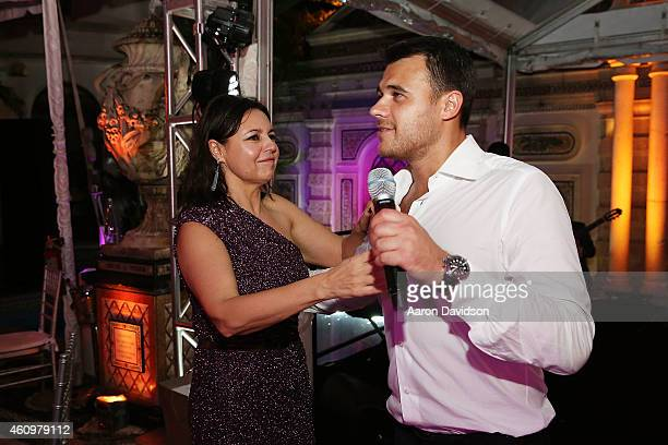 Irina Agalarova and Emin Agalarov attends New Years Eve And Birthday Party For Irina Agalarova at Barton G on December 31, 2014 in Miami Beach,...