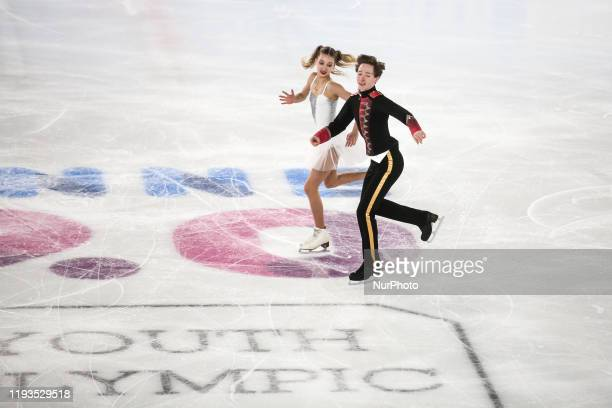 Irina and CIRISANO Dariofrom Russiacompete inFigure Skating:Ice Dance Free Dance during 4 day ofWinter Youth Olympic Games Lausanne 2020 in...
