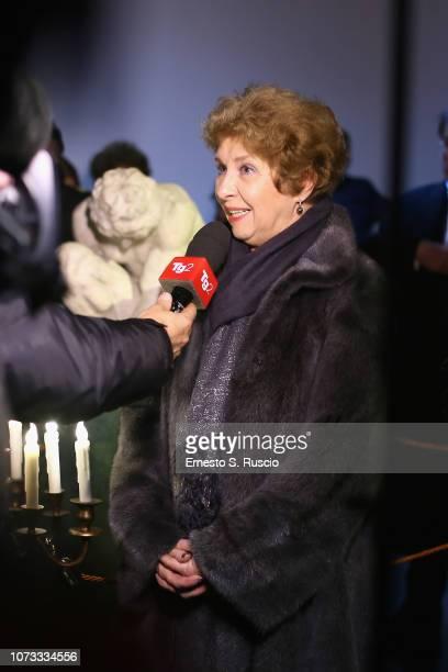 Irina Artemieva attends Fondazione Alda Fendi Esperimenti L'Adolescente by Michelangelo from The State Hermitage Museum on December 14 2018 in Rome...