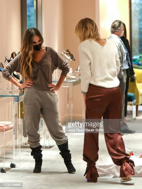 Irina Baeva and Sarah Jessica Parker are seen on October 16, 2020 in New York City.