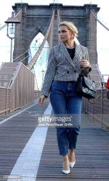 Irina Baeva is seen on October 08, 2020 in New York City.