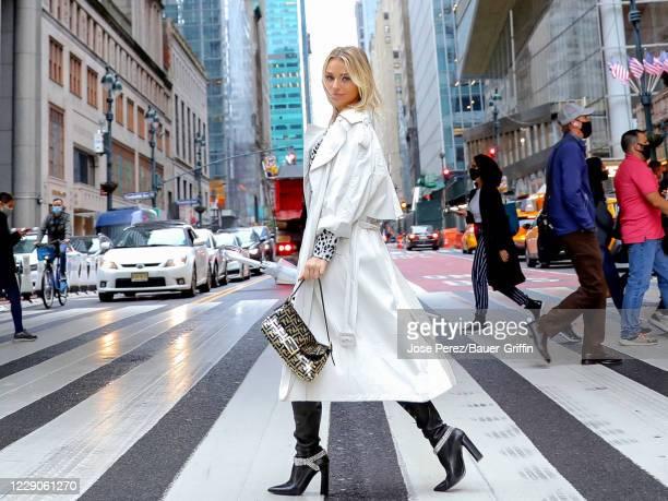 Irina Baeva is seen on October 13, 2020 in New York City.