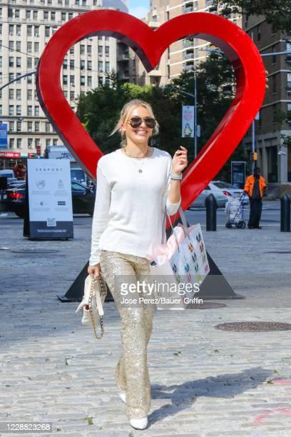Irina Baeva is seen on September 30 2020 in New York City