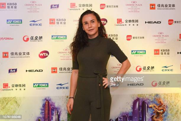 Irina Bara of Romania attends player party during 2019 WTA Shenzhen Open at Zhu Jiang Crowne Plaza Hotel on December 31 2018 in Shenzhen China