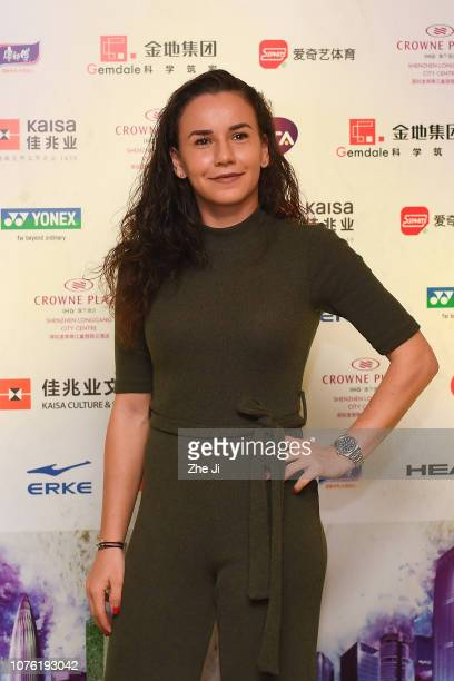Irina Bara of Romania attends the player party during 2019 WTA Shenzhen Open at Zhu Jiang Crowne Plaza Hotel on December 31 2018 in Shenzhen China