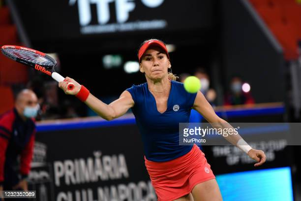 Irina Bara player of team Romania during the match against Elisabeta Cocciaretto, italian player during the Billie Jean King cup in Cluj-Napoca,...