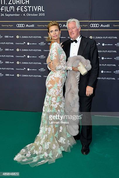 Irina Beller and Walter Beller attend the 'The Man Who Knew Infinity' Premiere And Opening Ceremony during the Zurich Film Festival on September 24...