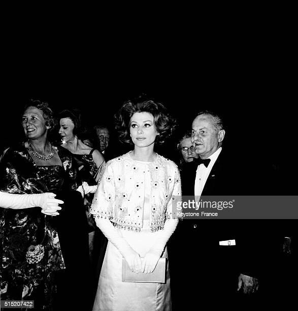 Irina Demick And Darryl F Zanuck At the Gala For the Movie 'The Longest Day' - 'Le Jour Le Plus Long' - Directed By Darryl F Zanuck At the Palais De...