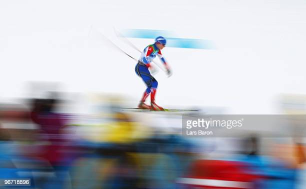 Irina Khazova of Russia competes during the CrossCountry Skiing Ladies' 10 km Free on day 4 of the 2010 Winter Olympics at Whistler Olympic Park...