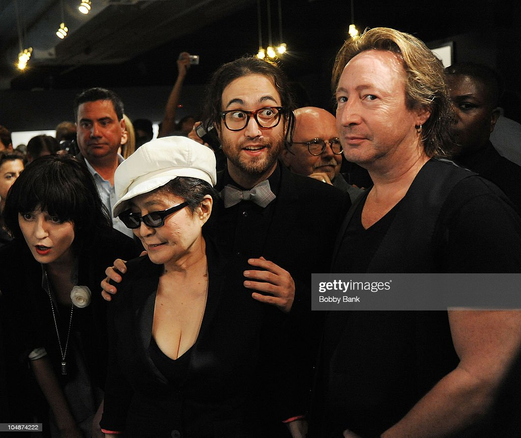 Irina Lazarean Sean Lennon Yoko Ono And Julian Lennon Attends The News Photo Getty Images