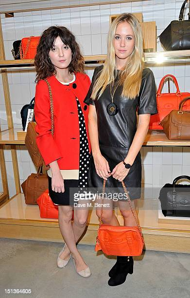 Irina Lazareanu and Florence BrudenellBruce attend as Mulberry hosts the official launch event for Vogue Fashion's Night Out at their New Bond Street...