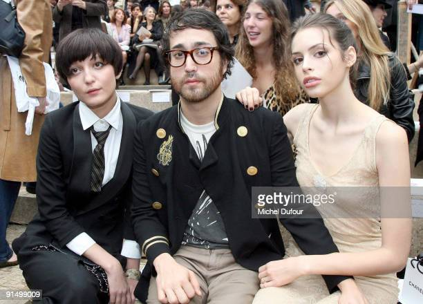 Irina Lazareanu Sean Lennon and Kemp Muhl attend the Chanel Pret a Porter show as part of Paris Womenswear Fashion Week Spring/Summer 2010 at Grand...