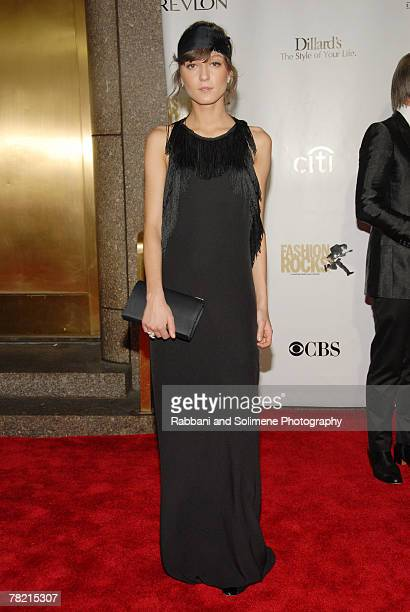 Irina Lazareanu, wearing custom-made 3.1 Phillip Lim, arrives at Conde Nast Media Group's 4th Annual Fashion Rocks At Radio City Music Hall .