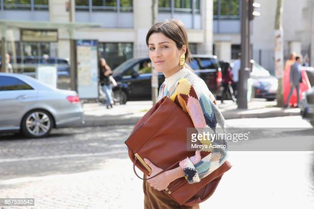 Irina Linovich seen during Paris Fashion Week Womenswear Spring/Summer 2018 on October 3 2017 in Paris France