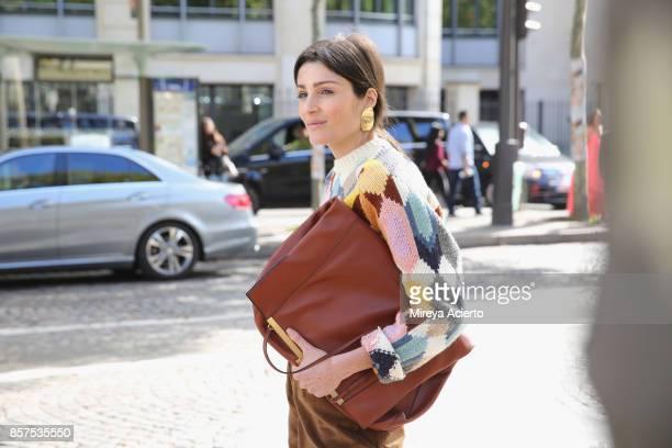 07b74fb648098 Irina Linovich seen during Paris Fashion Week Womenswear Spring Summer 2018  on October 3 2017