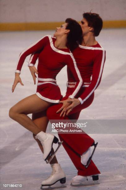 Irina Moiseeva Andrei Minenkov competing in the Ice Dancing figure skating event at the 1980 Winter Olympics / XIII Olympic Winter Games Olympic...