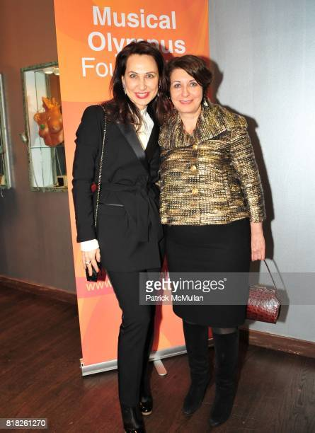 Irina Nikitina and Aspasia Zoumas attend MUSICAL OLYMPUS FESTIVAL Presents SIX RISING STARS After-Party at Helen Yarmak Studio on February 24, 2010...