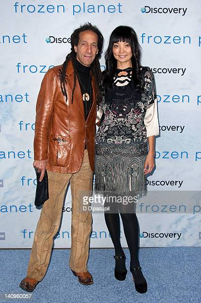 """Irina Pantaeva and Baron Leandro attend the """"Frozen Planet"""" premiere at Alice Tully Hall, Lincoln Center on March 8, 2012 in New York City."""